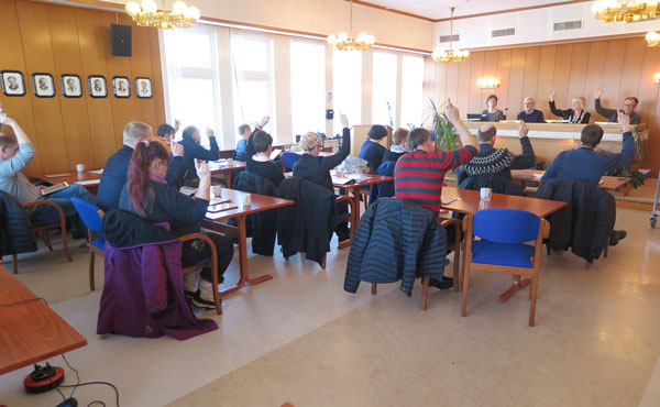 Kommunestyret gjorde samrøystes vedtak i VTA-saka. Foto: Harald Johan Sandvik